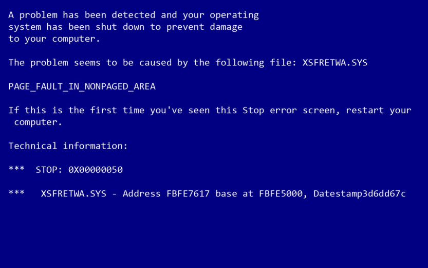 In case of Blue Screen of Death, call Nettechy at 818-233-3860